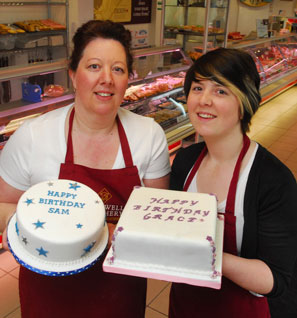 Cakes for any occasion at Bradwell Butchery